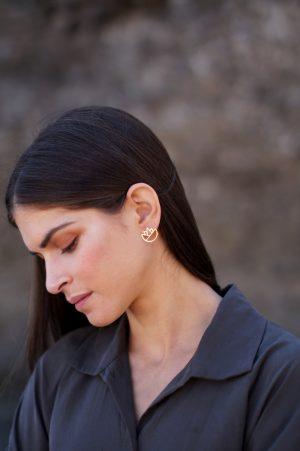 lotus earrings (gold) 5