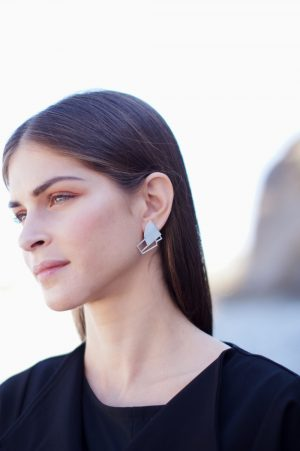sirens earrings (silver) 4