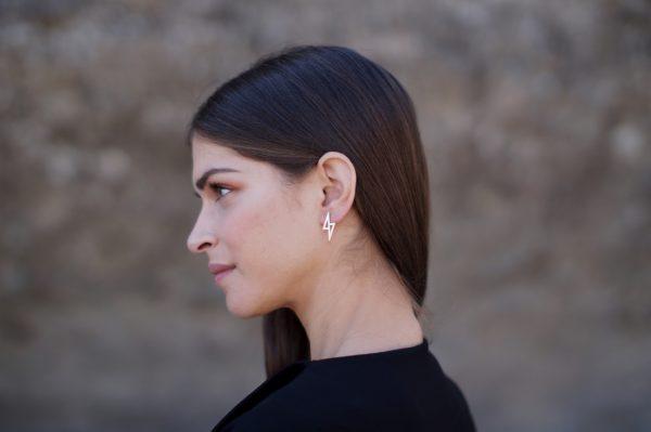 zeus earrings silver 2