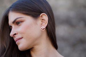 lotus earrings (silver) 5