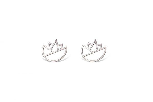 lotus earrings (silver) 6