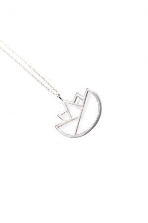 lotus necklace (silver) 5