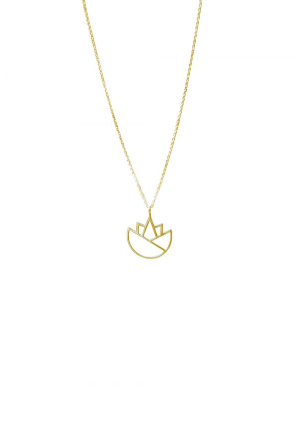 lotus necklace (gold) 4