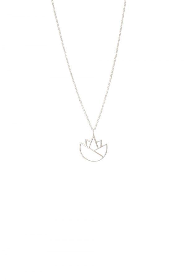 lotus necklace (silver) 4
