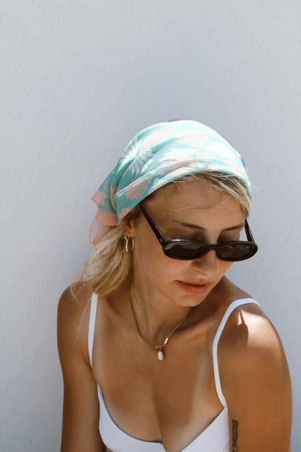 aqua mint scarf