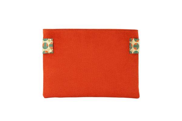 mitos orange clutch