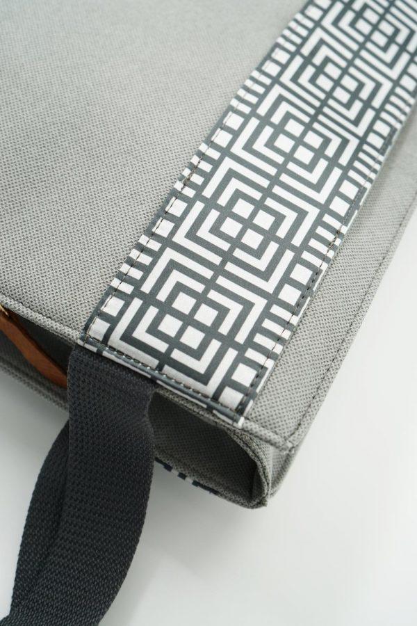 labyrinth grey bag