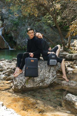 Zeus (black) mini backpack