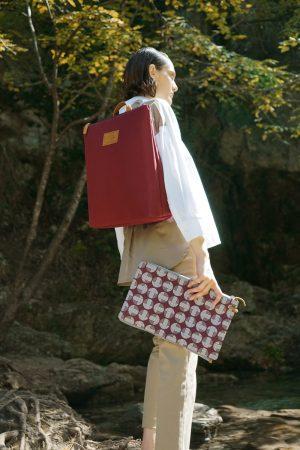 mitos dark red backpack