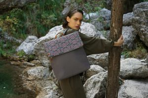 Labyrinth (brown pink) backpack